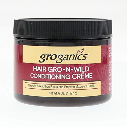 Groganics Hair Gro-N-Wild Conditioning Creme, 6 oz (Pack of 6)