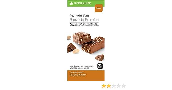 Herbalife Protein Bars - Chocolate Peanut (14 Bars per box) - 490g