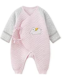 244fbdac0 Newborn Baby Unisex Japanese Kimono Romper Cotton Thicken Sleeper Pajamas