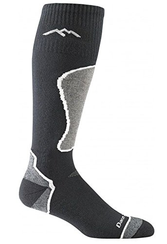 Darn Tough Vermont Men's Thermolite OTC Padded Cushion Socks, Black, Polar, ()