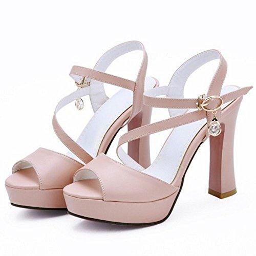 2 pink Zanpa Sandales Plateforme Femmes Mode cwU7I