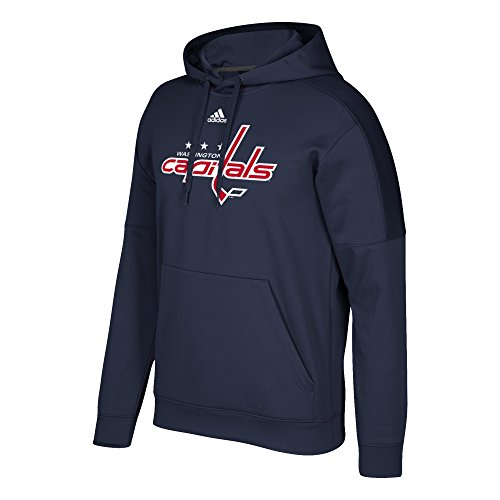 NHL Washington Capitals Adult Primary Logo Stand Out Fleece Hood, Medium, Dark Navy