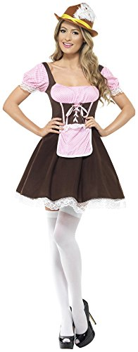 Smiffy's Women's Tavern Girl Costume Short Dress with