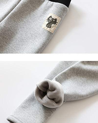 GladiolusA Inverno Bambine Leggings Pantaloni Ragazze Addensare Fleece Caldo Leggins Jeggings