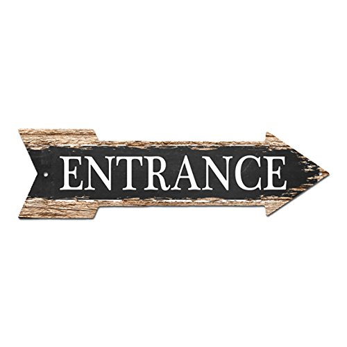 ENTRANCE Arrow Street Tin Chic Sign Name Sign Home man cave Decor Gift Bar Cafe Restaurant shop Home man cave Decor sign