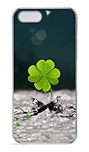 Clover Customized Popular DIY Hard Back Case Cover For iPhone 5 5S Hard Transparent