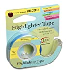 10 Pack LEE PRODUCTS COMPANY REMOVABLE HIGHLIGHTER TAPE BLUE