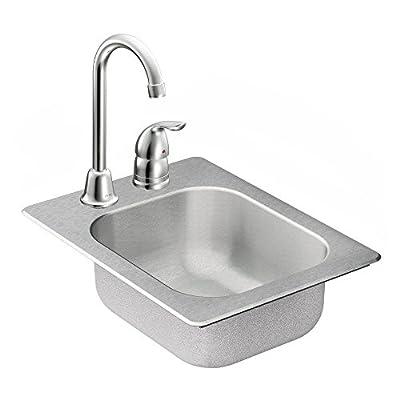 Moen TG2045522 2000 Series 20 Gauge Single Bowl Drop In Sink, Stainless Steel