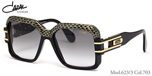 CAZAL Sunglasses Model 623/3 Color 703 1/2 Leather Limited Edition - Sunglasses Cazal 623