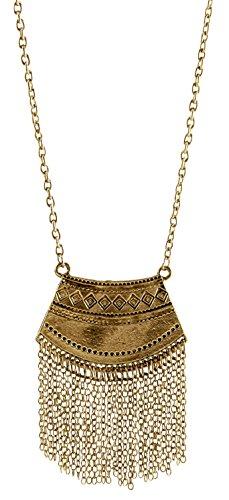 Long Mystic Fringe Boho Tribal Ethnic Gold Pendant Necklace - SPUNKYsoul Collection…