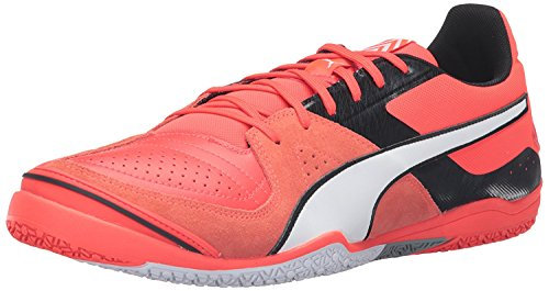 Puma Mens Invicto Sala Soccer Shoe, rojo/blanco/negro (Red Blast White Black), 46 D(M) EU/11 D(M) UK