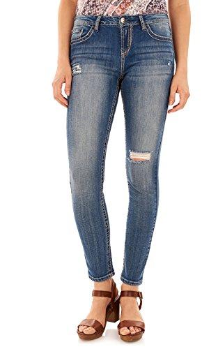 "WallFlower Women's Juniors Basic Legendary Stretch Skinny Denim Jeans (28-30-32"" Inseams)"