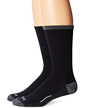 Men's 2 Pack Work To Casual Contrast Sole Crew Socks
