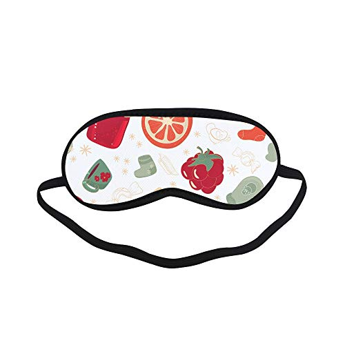 All Polyester Bread Jam Sweet and Sour Sauce Breakfast Sleeping Eye Masks&Blindfold by Simple Health with Elastic Strap&Headband for Adult Girls Kids and for Home -