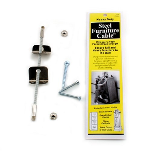 (Quakehold! 2830 7-Inch Steel Furniture Cable 2-Pack)