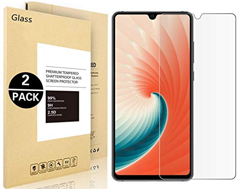 OnePlus 6T Screen Protector,Vigeer [Anti-Scratch] [Anti-Bubble] [Case Friendly] [9H Hardness] [2-Pack HD Clear] Tempered Glass Screen Protector for OnePlus 6T