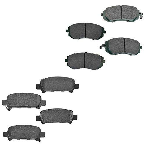 (Premium Posi Ceramic Disc Brake Pad Set Front & Rear Kit for Subaru)