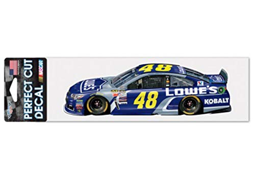 Wincraft Jimmie Johnson Decal - WinCraft Jimmie Johnson #48 Lowes Racing Perfect Cut Racing Car Decal (3