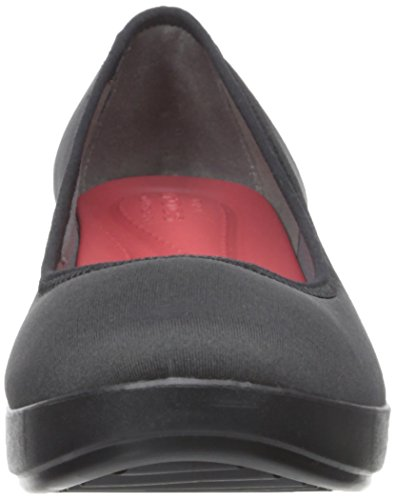 Flat Busy Crocs Black Ballet Wedge Day Stretch Women's Black PUOwxq6BC