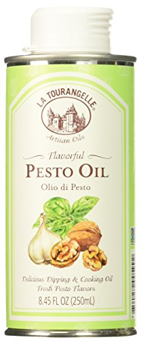 - La Tourangelle, Pesto Oil, 8.45 Fl. Oz., Artisinal Gourmet Walnut Oil Infused with Fresh Pesto for Cooking, Seasoning, and Dressing