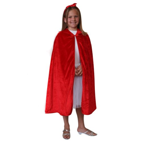 - Storybook Wishes Velvet Cloak,Red,S/M (28