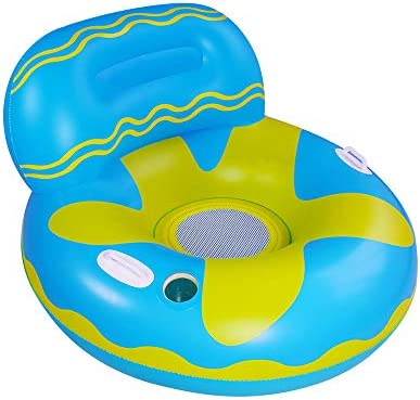Elitoky Inflatable Lounger Pool Float Fun Beach Floaties Chair Swimming Party Water Float Toys Inflatable Lounge Float for Kids & Adults | Extra LargeCup Holders and Head Rest | 42 X 28