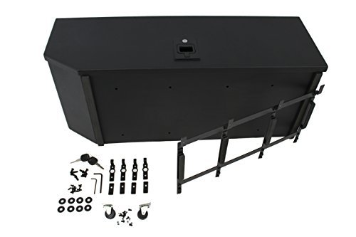 Carrichs 2007-2017 Jeep Wrangler JK (without Rear Side Sub Woofer) Tailgate Storage Box - Matte Black (Cargo Tailgate Box)