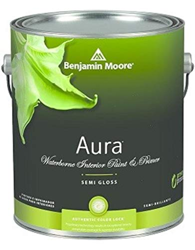 Paint Aura Moore Benjamin - 1G Benjamin Moore, WHITES, Aura Waterborne Interior Paint - Semi-gloss - Simply White