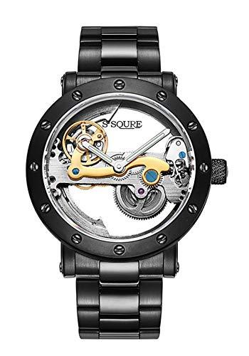 IK Steampunk Hollow-Out Automatic Mechanical Watch Minimalist ()