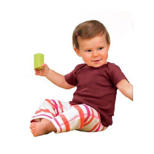 R3400 Rabbit Skins Infant Baby Rib Lap-Shoulder T-Shirt (Maroon) (18M)