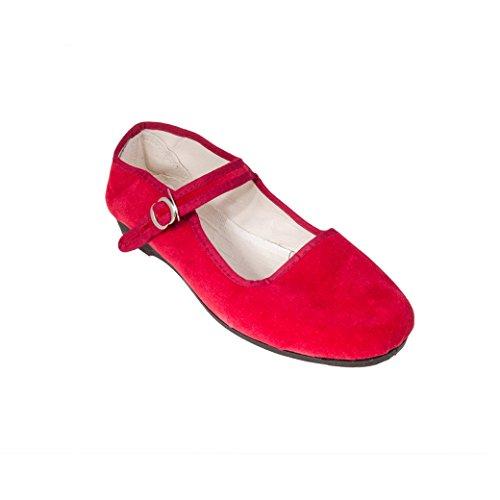 Rot donna Ballerine rosso Sonnenscheinschuhe 42 xYTgwSq