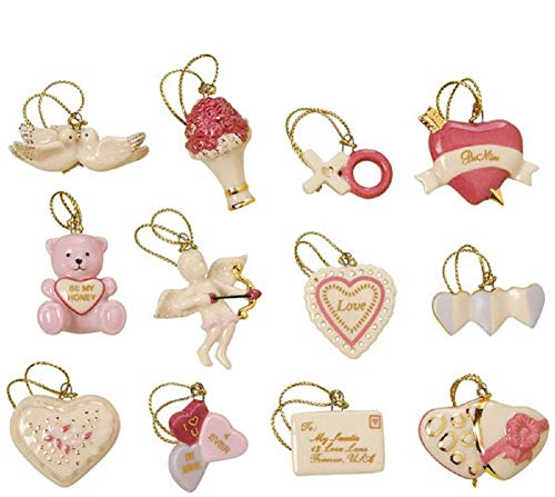 Heart Lenox (Lenox Set of 12 Ornaments for Ornament Tree (Tree Not Included) (Be Mine Valentine))
