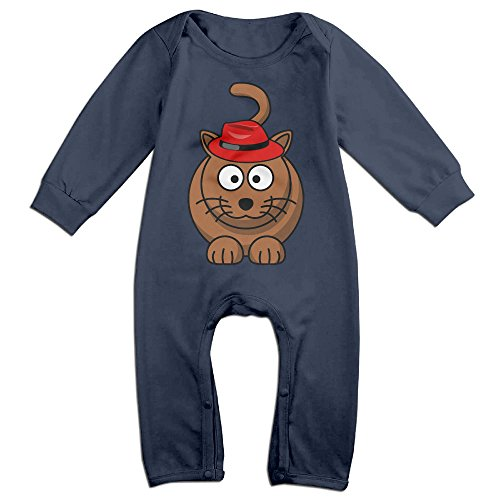 [VanillaBubble Weird Cat For 6-24 Months Infant Custom Tshirt Navy Size 18 Months] (Ghana Costume For Boys)