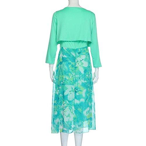 Kleider Damen Bekleidung Longra Plusgrößen Frauen Sommer Blumen Boho ...