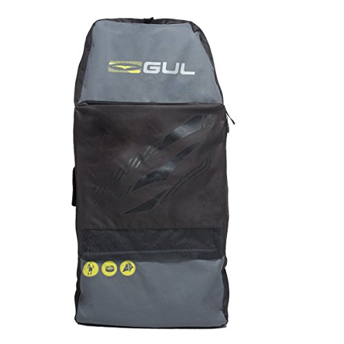 Gul Arica Bodyboard Bag Back Pack for 2 x 42'' Adult Bodyboards. Black / Yellow by GUL (Image #2)