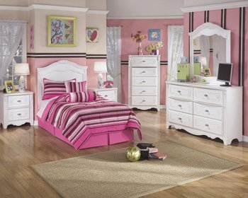 Ashley Furniture Signature Design - Exquisite Nightstand - 2 Drawers - Kids Room - White by Signature Design by Ashley