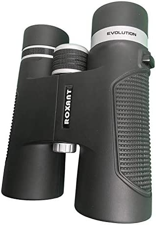 Roxant Authentic Evolution Professional High Definition Long Range Binoculars for Adults 10×42 Shockproof, Dust Proof, Weatherproof Rubber Armor, Sturdy Metal Alloy Frame Case Accessories