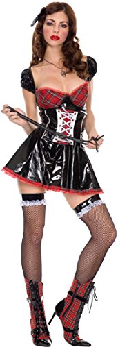 Dominatrix Outfit (ToBeInStyle Women's Black Red Funky Vinyl Dominatrix Outfit Includes - Ml)