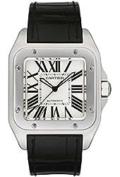 Cartier Santos 100 W20073X8 Mens Stainless Watch Unworn