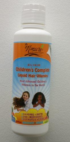 Liquid Cheveux Vitamines 16 les Onces de Nzuri Elixir enfants