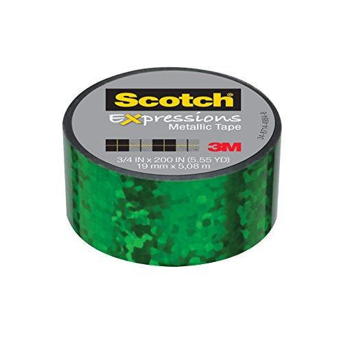 """Scotch Expressions Metallic Tape, 3/4 """" x 200 """", Green for sale  Delivered anywhere in USA"""