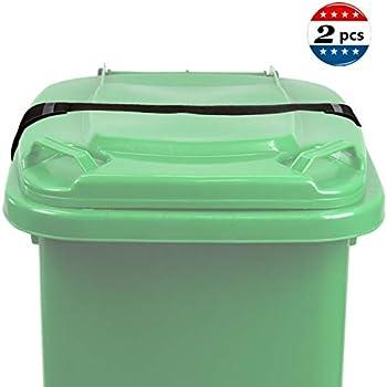 Amazon com: XJunion Trash Can Cover Strap Garbage Bin Lid