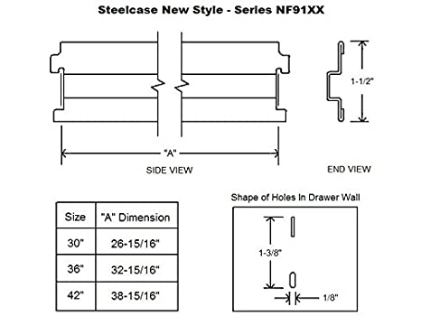 SteelcaseNew Style Lateral File Bar 36 4-Pack
