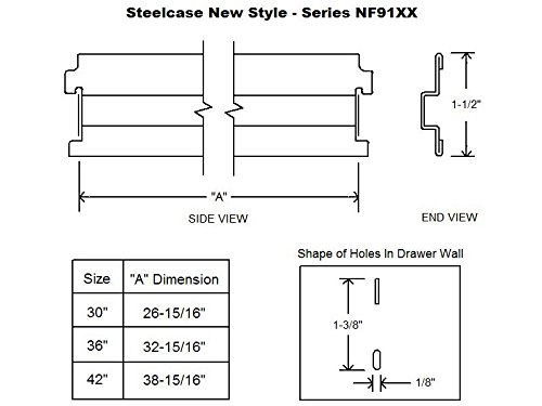 Steelcase''New Style'' Lateral File Bar 42'' (4)