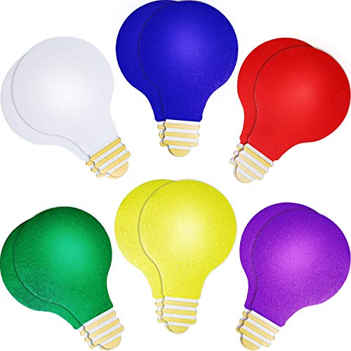 Tatuo 12 Pieces Reflective Automotive Christmas Lights Bulb-Shaped Magnets Set for Car Decoration Garage Mailbox Refrigerator, 2 of Each Color