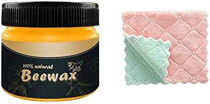 Beewax Wood Polish Bienenwachs 85G, Holzgewürz Beewax Perfekt Für Eichenholz, Teakholz, Dunkles Und Helles Holz -Ein