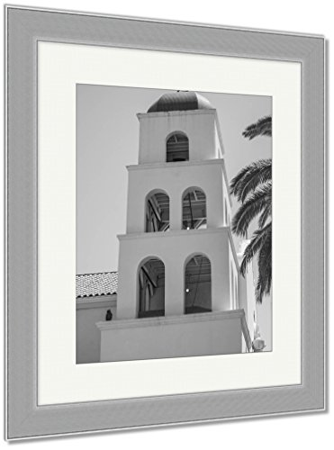 Ashley Framed Prints Catholic Church Of The Immaculate Conception In San Diego San Diego California, Wall Art Home Decoration, Black/White, 30x26 (frame size), Silver Frame, AG6522958 by Ashley Framed Prints