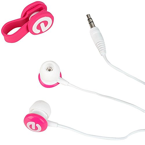 Tabeo Earbuds and Cable Tie - Pink
