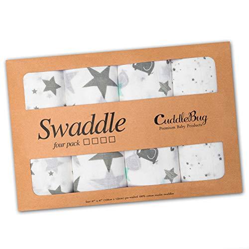 - Muslin Baby Swaddle Blankets
