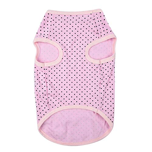 (AHAYAKU New Dog Cat Pet Vest Comfortable Fall Breathable Leisure Pet Thin Clothing Pink)